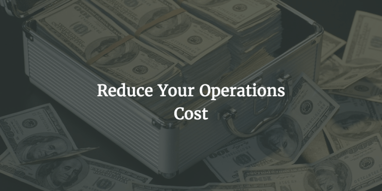 How to lower operating costs