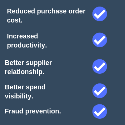 benefits of a purchasing system