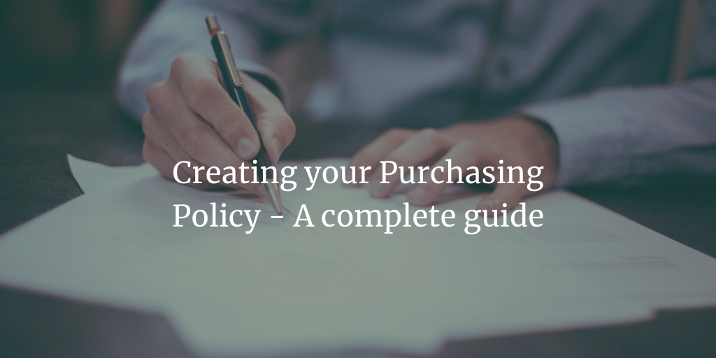 Procurement policy template