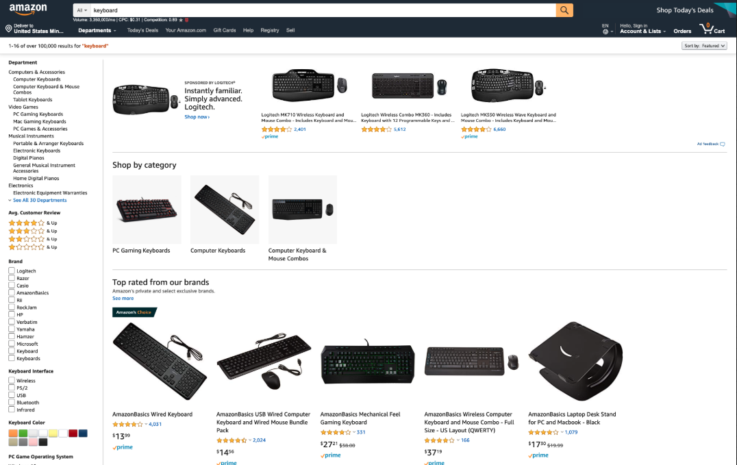 Amazon.com shopping experience