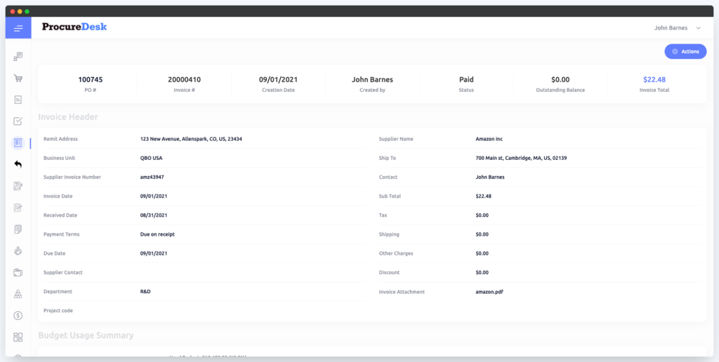 Automated payment status update